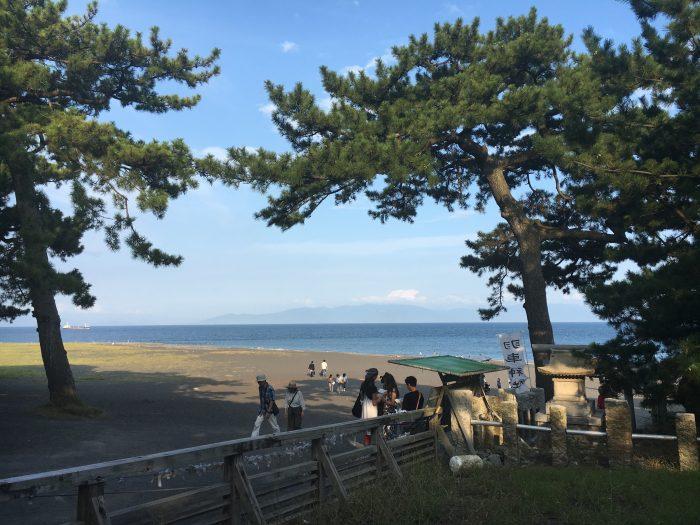 松原の海の写真