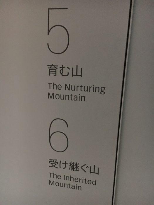育む山、受け継ぐ山の看板の写真