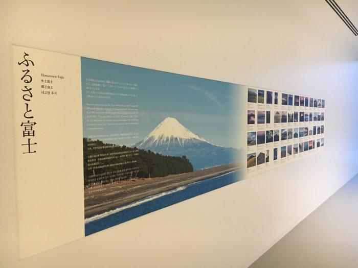 富士山のパネル写真