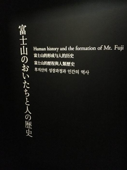 富士山のおいたちと人の歴史看板