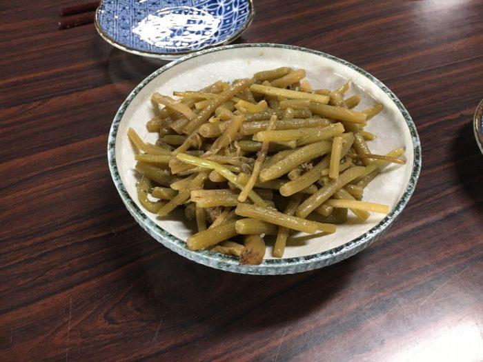 山菜の煮物写真