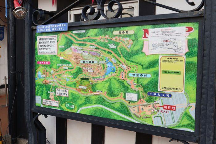 修善寺の地図板写真
