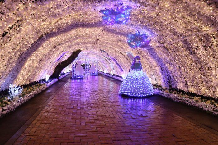 光のトンネル内部の写真
