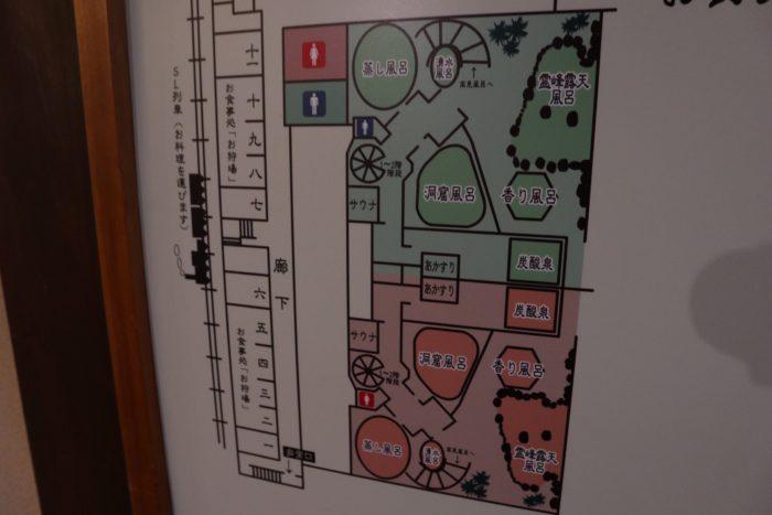 温泉施設の地図の写真