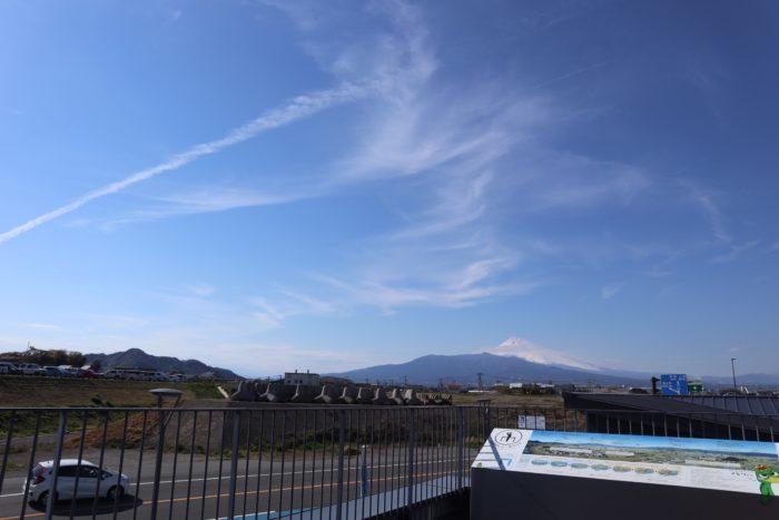 展望スペースからの富士山の写真
