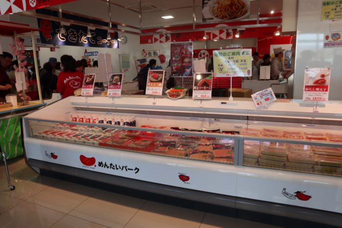 1階の明太子商品コーナーの写真